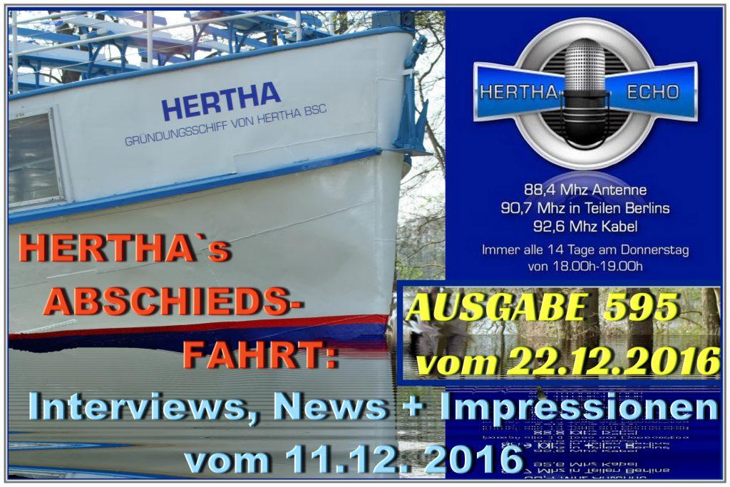 Hertha Dampfer im Hertha-Echo